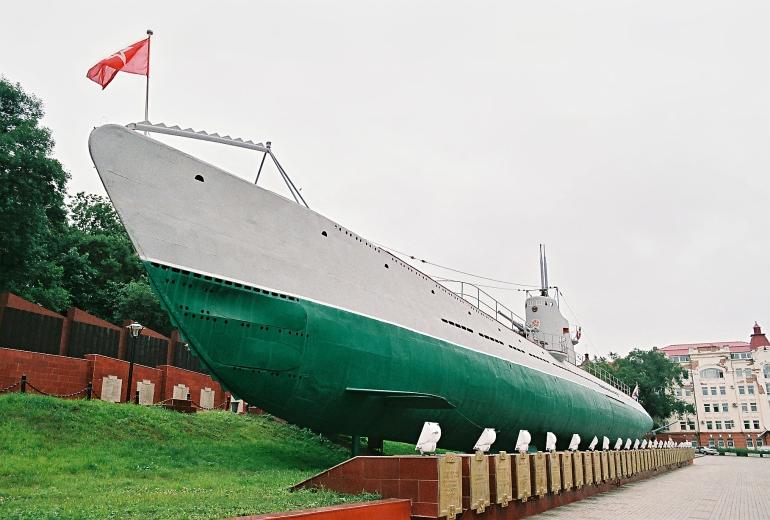 Soviet submarine S-56 at Vladivostok, Russia.