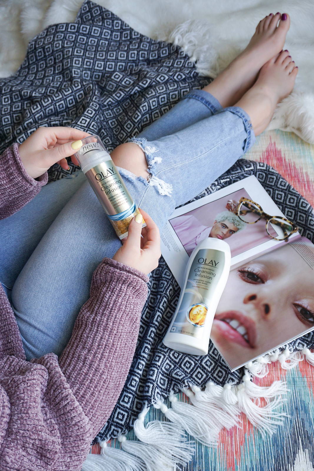 Why I'm Micropolishing my Skin this Spring with Olay Micropolishing Cleansing Infusion Line Living After Midnite Jackie Giardina Beauty Blogger Skincare
