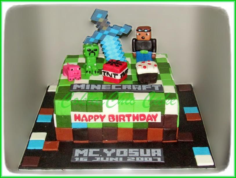 Cake Minecraft MC YOSUA 18 cm