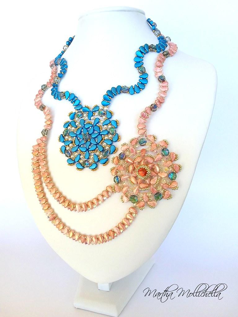Paisley duo beads beadsmith handmade jewellery by Martha Mollichella