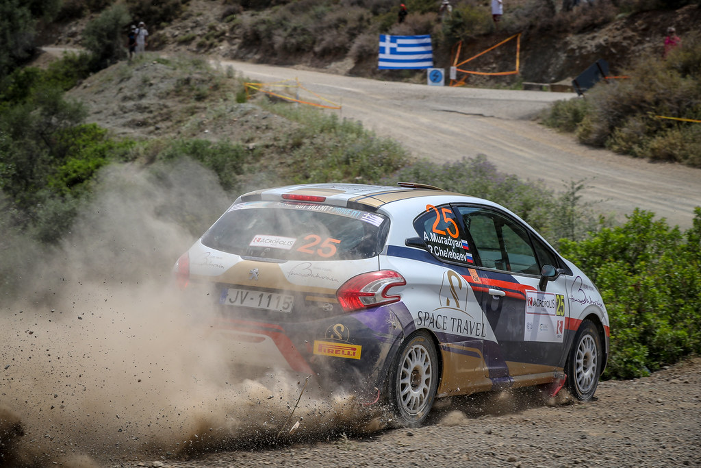 25 MURADIAN Arthur (rus), CHELEBAEV Pavel (rus), Peugeot 208 R2, action during the European Rally Championship 2018 - Acropolis Rally Of Grece, June 1 to 3 at Lamia - Photo Alexandre Guillaumot / DPPI