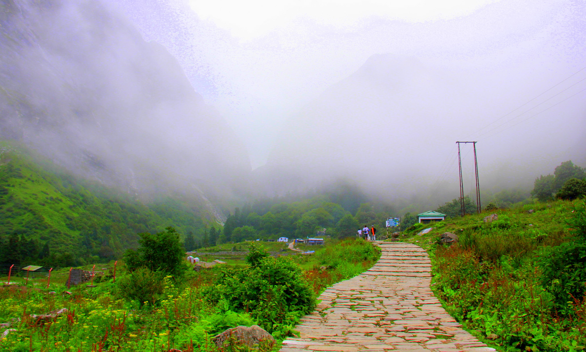 The jumping off base of the valley of flowers trek is a little himalayan village