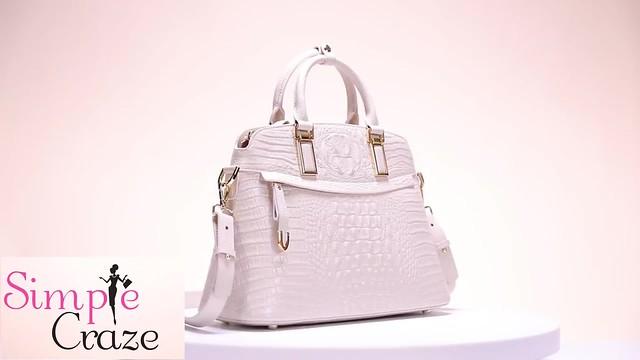 Crocodile Luxury Elegant 100% Genuine Leather Handbag