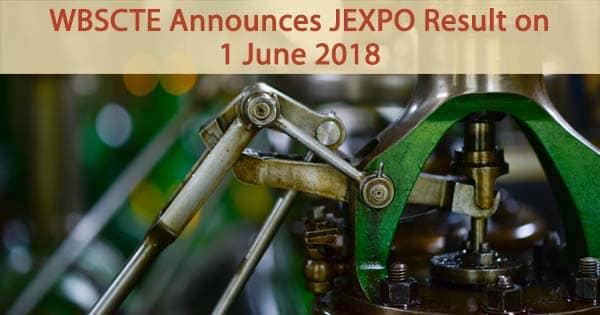 wbscte jexpo result announced on 1 june 2018