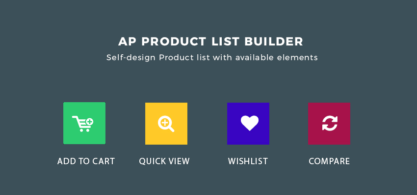available elements in backend to create product list