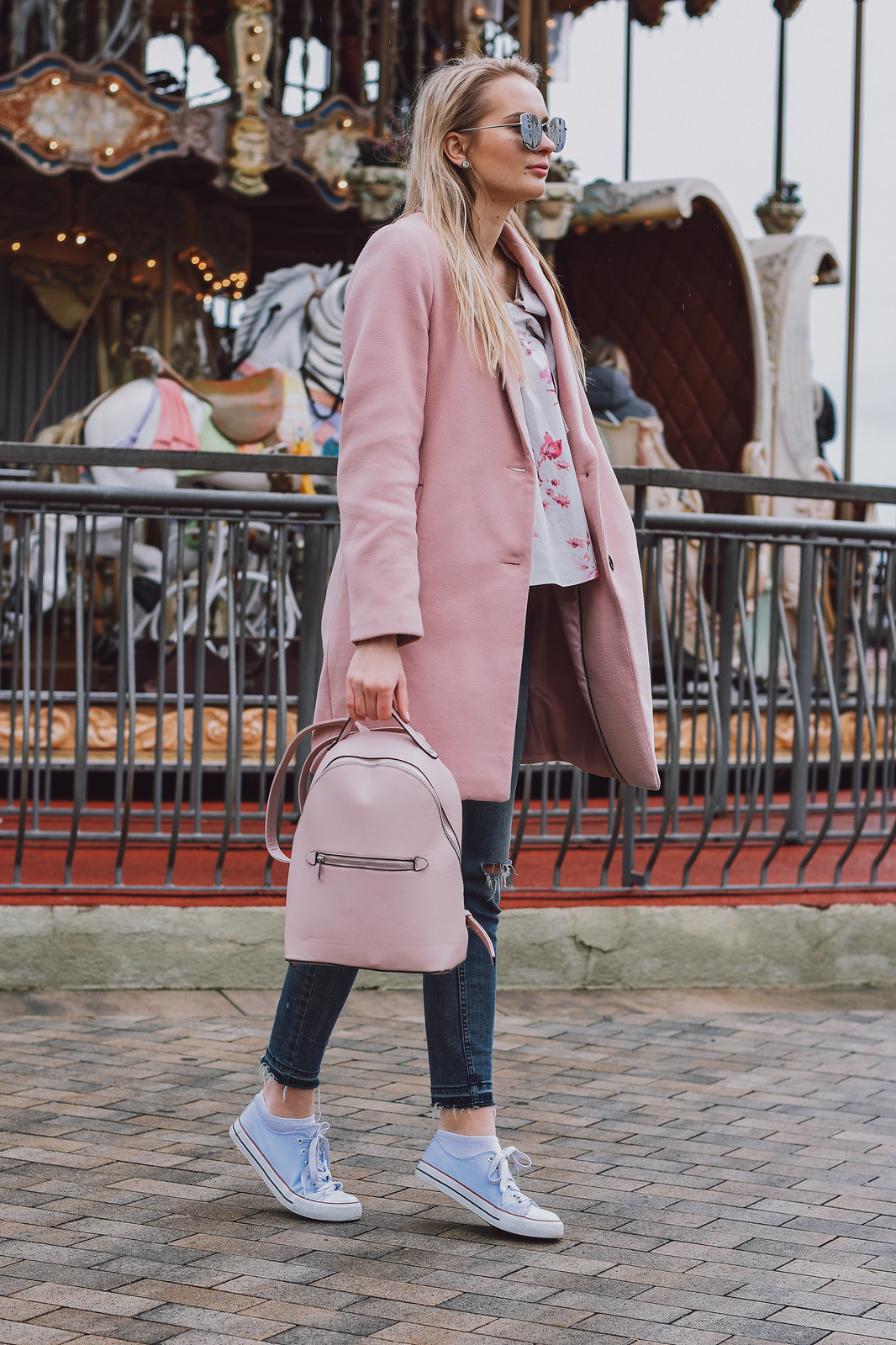 Stradivarius pink coat