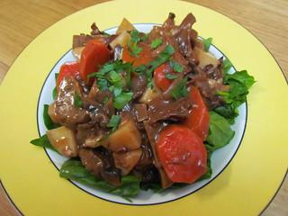 Seitan and Wild Mushroom Stew