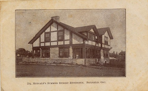 PB10069 PC Dr Metcalf's summer resort residence in Bayfield c1906