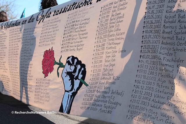 08.04.2018 Berlin: Gedenkdemonstration und Enthüllung der Gedenkstatue für Burak Bektas in Neukölln