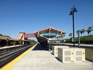 Hollywood Florida Amtrak Tri-Rail Station Originally Seaboard Air Line Station