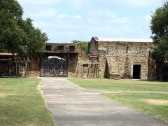 USA-l'État du Texas, le portail de Fort Alamo de San José à San Antonio