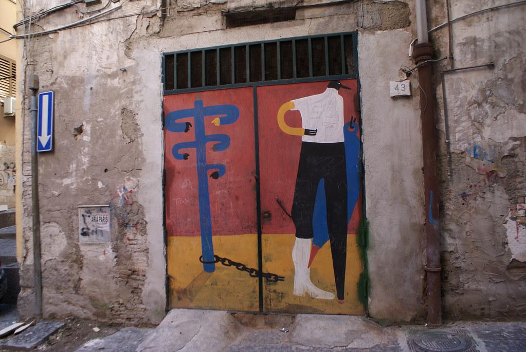 Street art dans les Quartiers Espagnols de Naples.