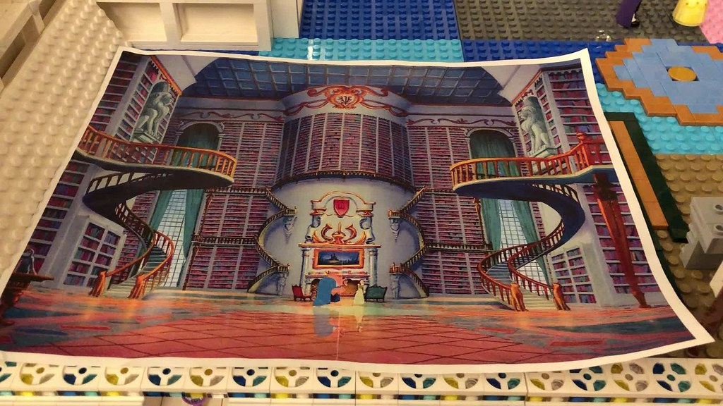 The making of the Beauty and the Beast Lego Library