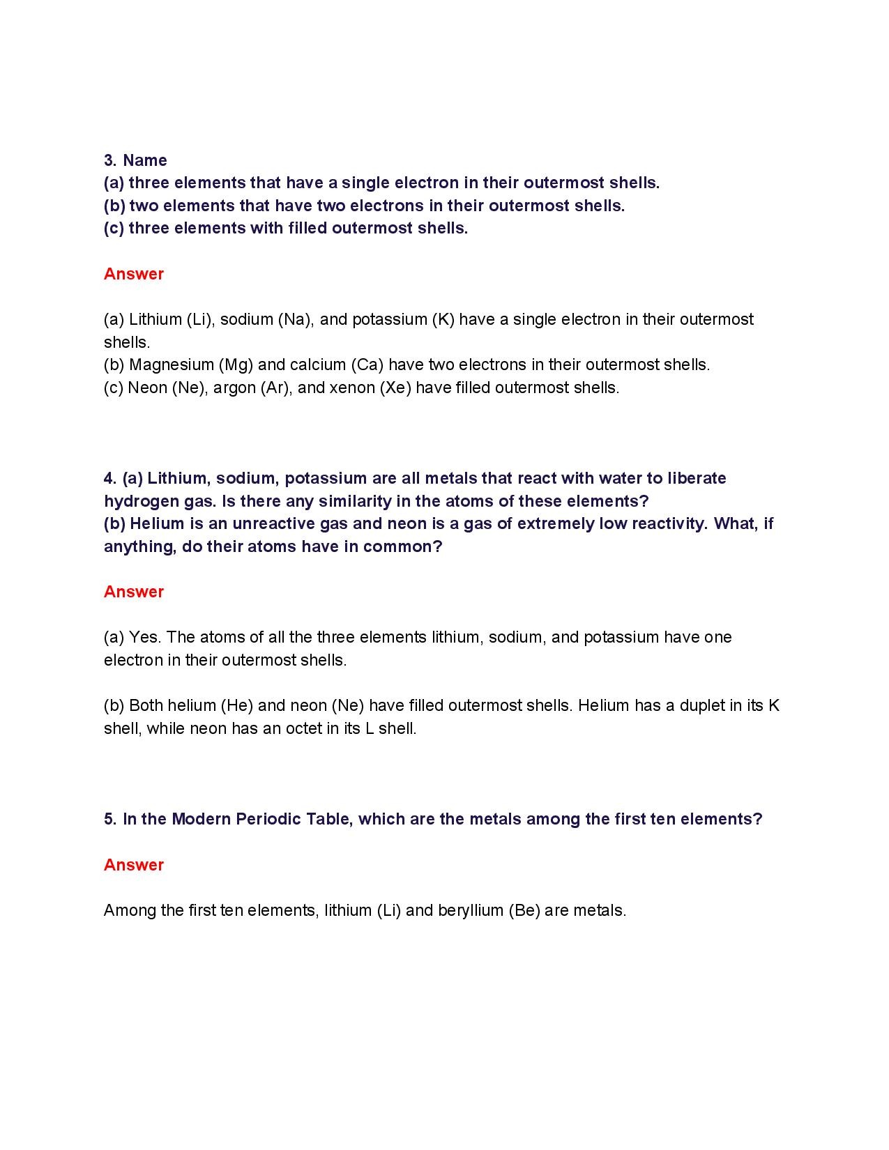 NCERT Solutions for Class 10th_ Ch 5 Periodic Classification of Elements Science-page-004