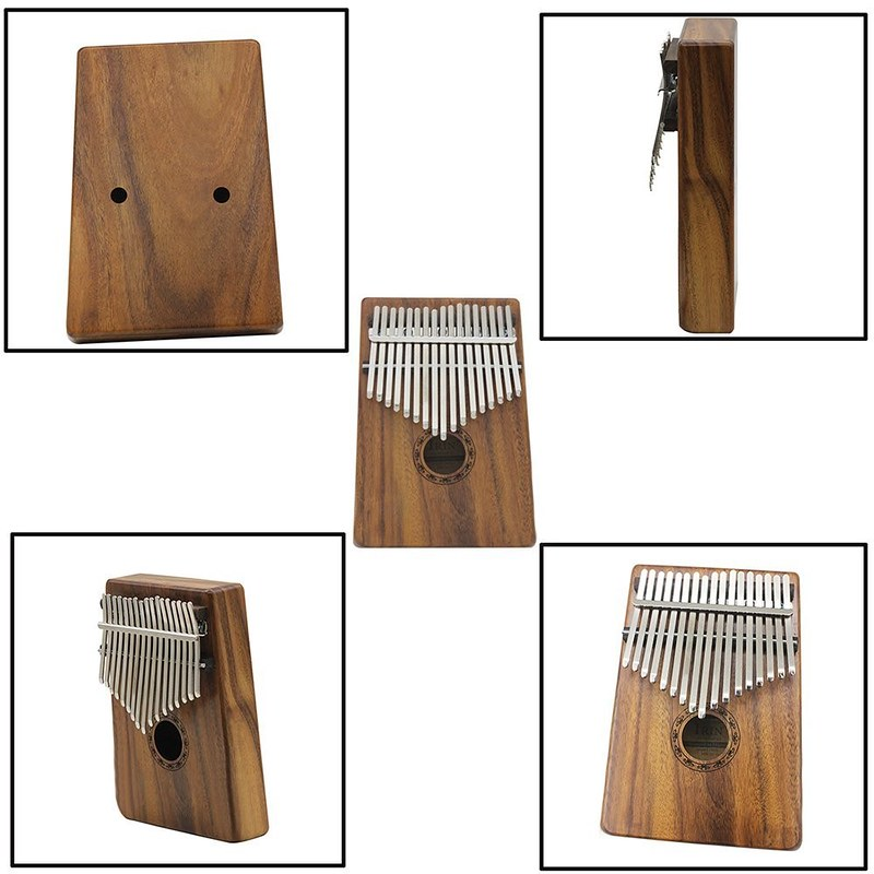 ammoon 17キーカリンバ ポケット親指ピアノ ソリッドアカシア 楽器ギフト 初心者の音楽愛好家用 (2)