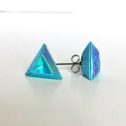 Origami Triangle Earrings by Blue Bassoon