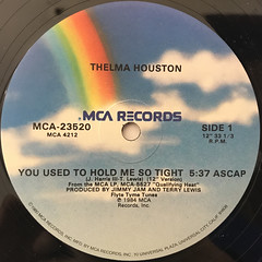 THELMA HOUSTON:YOU USED TO HOLD ME SO TIGHT(LABEL SIDE-A)