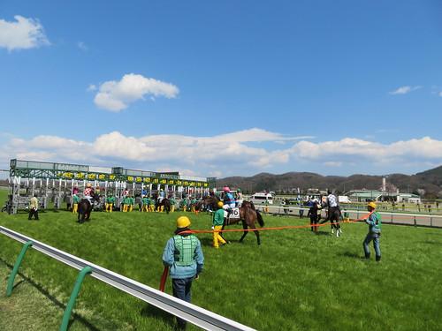 福島競馬場の芝1800mスタート地点