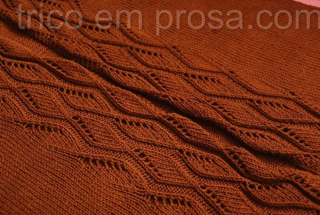 blog Tricô em Prosa - da cor do chocolate - Cardigã Amiga