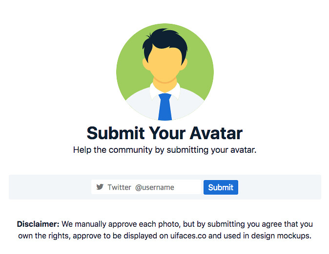 uifaces submit avatar