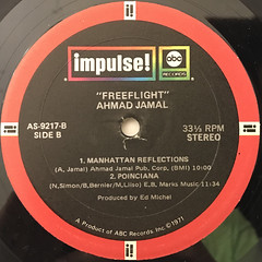 AHMAD JAMAL:FREEFLIGHT(LABEL SIDE-B)