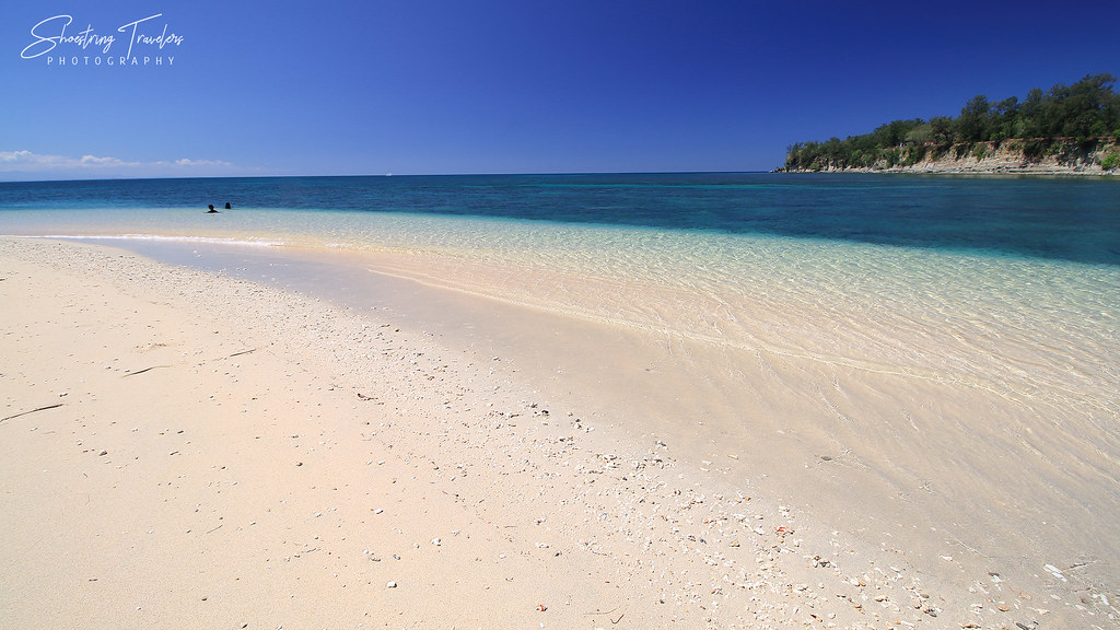 white sand and clear waters at Hermana Menor