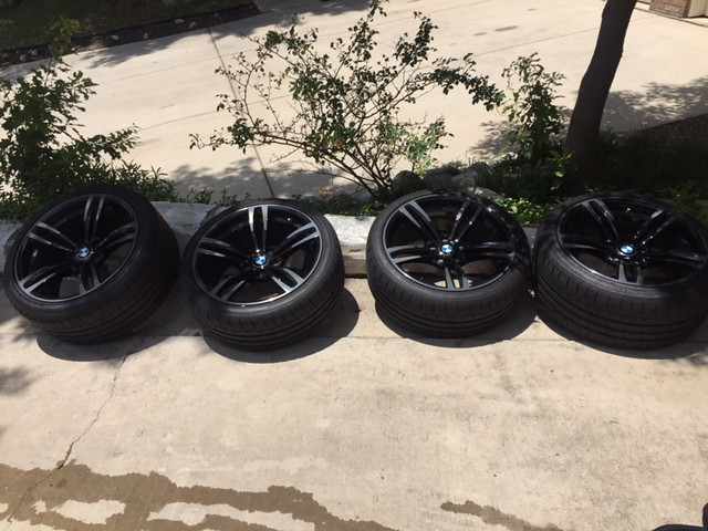FS: OEM Black 437 wheels with Conti tires, TPMS in Austin