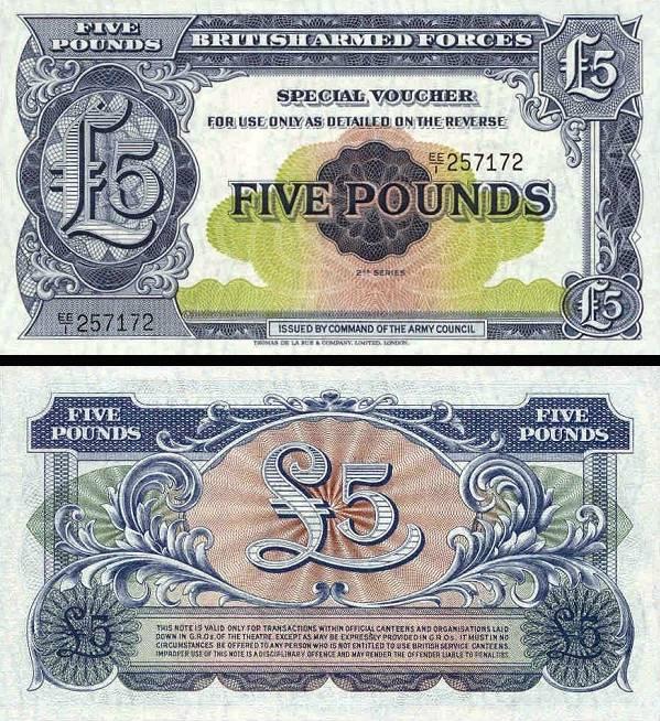 5 Pounds Veľká Británia 1948, M23