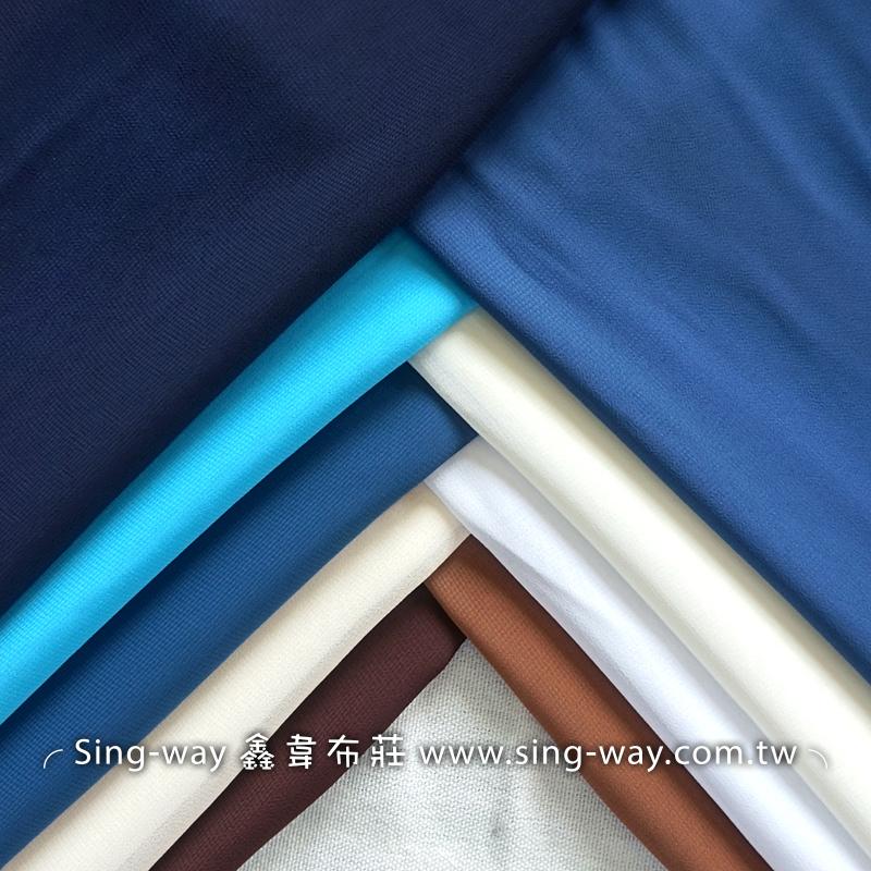 素面雪紡紗 垂墜風 文青風 簡約風 雪紡衣 雪紡紗裙 輕柔 不易皺 裝飾服裝布料 IA290056 藍白色系
