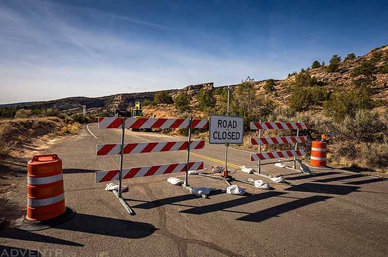 Rim Rock Drive Closed