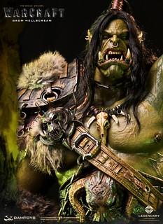即使面對死亡也毫不退卻的傳奇酋長再登場!! DAMTOYS《魔獸:崛起》葛羅瑪許·地獄吼2.0 Grom Hellscream2.0 DMLW011 全身雕像作品