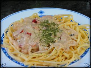 Pasta con salsa de paté / pasta with pate sauce