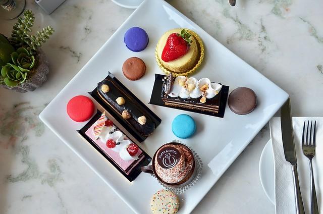 plate petal pastries