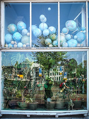 Windowful of globes