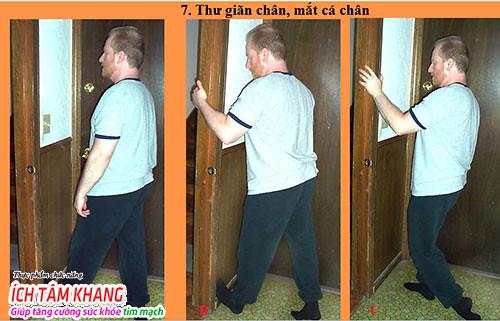 Động tác tập thể dục thứ 7 cho người bệnh suy tim