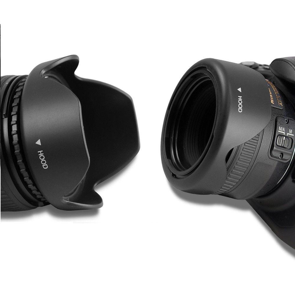 01 Lens hood - Loa che nắng hoa sen vặn ren cho ống kính phi 77mm ĐẢO ĐẦU