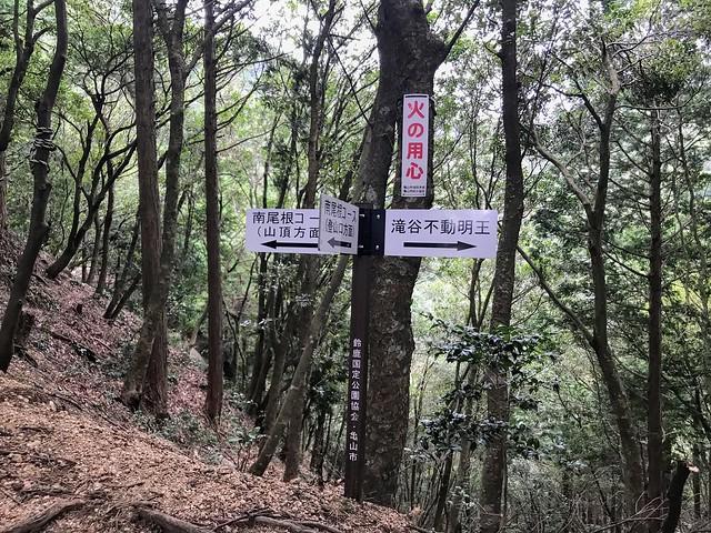 仙ヶ岳 南尾根 滝谷不動分岐