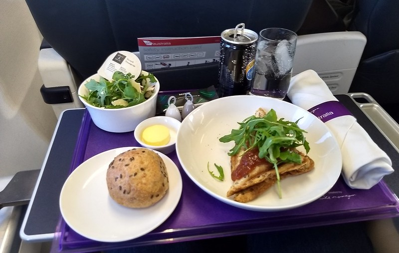 Business class meal on Virgin