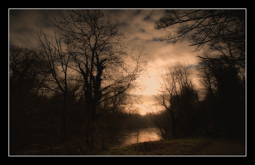morning sunrise river trees water clouds park path lucan dublin nikon d5500