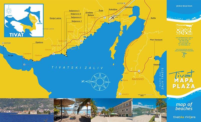 Карта тиватских пляжей