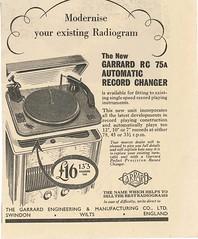 Garrard Adv 1940s RC75A