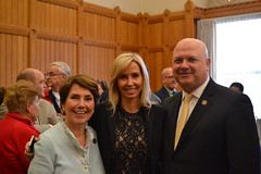 State Rep. Livvy Floren (R-Greenwich, Stamford) attended the Altice/Beardsley Zoo Reception at the Capitol on April 19, 2018.