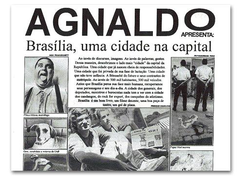 jornal bandas brasilienses de garagem capa do suplemento Agnaldo do Campus