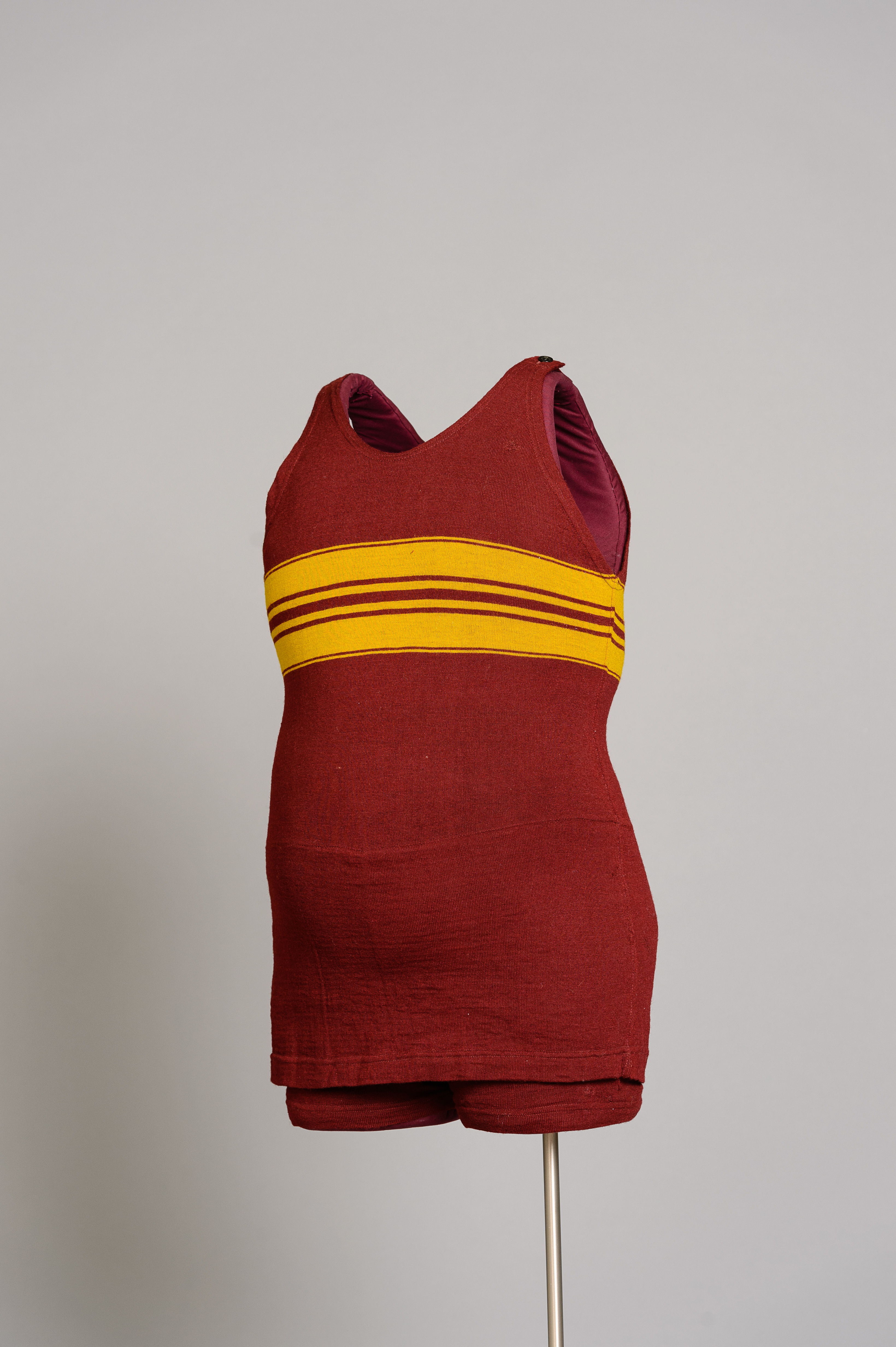 Fashion and Satire: Men's Pure Worsted Wool Swimsuit