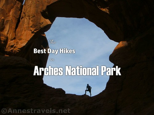 The Best Day Hikes in Arches National park - enjoying early morning in Double Arch, Utah