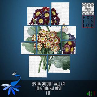 ZcZ Spring Bouquet Wall Art