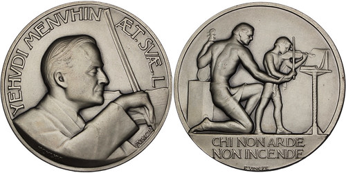 Yehudi Menuhin silver medal