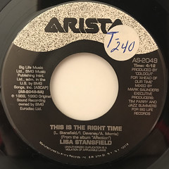 LISA STANSFIELD:THIS IS THE RIGHT TIME(LABEL SIDE-A)