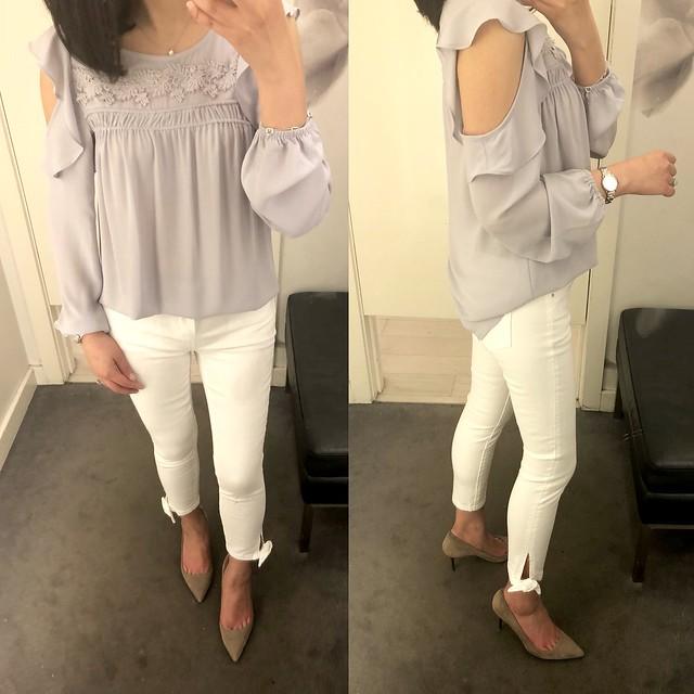 Ann Taylor Modern Ankle Tie Skinny Crop Jeans, size 25/0P