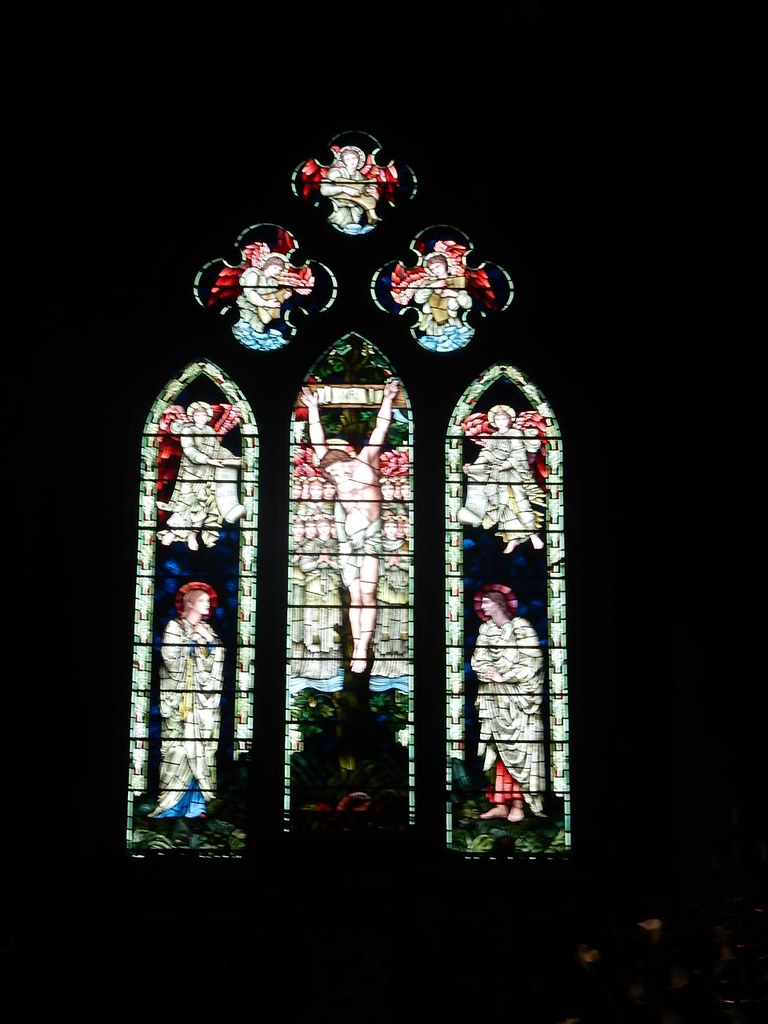 Burne-Jones windows, St Mary's Speldhurst Crucifixion, Ashurst to Eridge